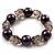 Boho Purple&Transparent Bead Flex Glass Bracelet