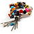 Multicoloured Flex Bead Tassel Bracelet (Silver Tone) - view 3