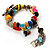 Multicoloured Flex Bead Tassel Bracelet (Silver Tone) - view 5