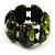 Wide Olive Green Resin Flex Bracelet