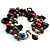 Multicoloured Simulated Pearl Bead & Shell Charm Bracelet (Silver Tone) - view 5