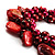 Burgundy Red Simulated Pearl Bead & Shell Charm Bracelet (Silver Tone) - view 3
