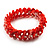 Coral Shell Stretch Bracelet - view 6