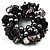 Chunky Black Shell And Bead Flex Bracelet