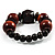 Dark Brown Chunky Wood Bead Flex Bracelet - 18cm Length - view 5