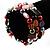 Acrylic & Shell Bead Coil Flex Bangle Bracelet (Multicoloured) - view 2