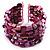 Magenta Shell Flex Cuff Bangle - view 2