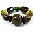 Chunky Olive Wood Bead Flex Bracelet - 18cm Length - view 3