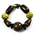Chunky Olive Wood Bead Flex Bracelet - 18cm Length - view 1