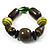Chunky Olive Wood Bead Flex Bracelet - 18cm Length - view 4