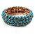 Light Blue Acrylic Flex Bangle Bracelet (Gold Tone)