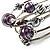 Silver-Tone Beaded Multistrand Flex Bracelet (Purple) - view 7