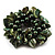Chunky Forest Green Shell And Bead Flex Bracelet - view 3