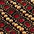 Wide Red Crystal Egyptian Style Flex Bracelet (Burn Gold Tone Finish) - 8cm Width - view 6