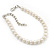 Classic Pearl Style Bracelet In Silver Tone Finish (6mm) - 16cm length with 4cm extension - view 5