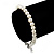 Classic Pearl Style Bracelet In Silver Tone Finish (6mm) - 16cm length with 4cm extension - view 3