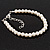Classic Pearl Style Bracelet In Silver Tone Finish (6mm) - 16cm length with 4cm extension - view 1