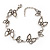 Antique Silver Butterfly Bracelet - 18cm Length & 3cm Extension - view 1