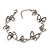 Antique Silver Butterfly Bracelet - 18cm Length & 3cm Extension - view 4