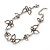 Antique Silver Butterfly Bracelet - 18cm Length & 3cm Extension - view 2