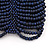 Wide Dark Blue Glass Bead Flex Bracelet - up to 19cm wrist - view 4