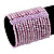 Wide Pale Lavender Glass Bead Flex Bracelet - up to 19cm wrist