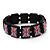 UK British Flag Union Jack Stretch Wooden Bracelet - up to 20cm length