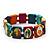 Stretch Multicoloured Wooden Saints Bracelet / Jesus Bracelet / All Saints Bracelet - Up to 20cm Length