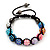 Unisex Multicoloured Acrylic Jewelled Balls Shamballa Bracelet - 10mm - Adjustable