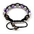 Lavender/Metallic Silver Acrylic Jewelled Balls Shamballa Bracelet - 10mm - Adjustable - view 6