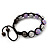 Lavender/Metallic Silver Acrylic Jewelled Balls Shamballa Bracelet - 10mm - Adjustable - view 7