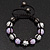 Lavender/Metallic Silver Acrylic Jewelled Balls Shamballa Bracelet - 10mm - Adjustable - view 2