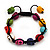 Unisex  Multicoloured Skull Shape Stone Beads Buddhist Bracelet - Adjustable