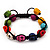 Unisex  Multicoloured Skull Shape Stone Beads Buddhist Bracelet - Adjustable - view 6