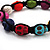 Unisex  Multicoloured Skull Shape Stone Beads Buddhist Bracelet - Adjustable - view 3