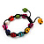 Unisex  Multicoloured Skull Shape Stone Beads Buddhist Bracelet - Adjustable - view 9