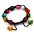 Unisex  Multicoloured Skull Shape Stone Beads Buddhist Bracelet - Adjustable - view 4