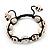 Antique White Skull Shape Stone Beads Buddhist Bracelet - 11mm diameter - Adjustable - view 6