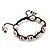 Antique White Skull Shape Stone Beads Buddhist Bracelet - 11mm diameter - Adjustable - view 8