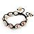 Antique White Skull Shape Stone Beads Buddhist Bracelet - 11mm diameter - Adjustable - view 10