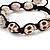 Antique White Skull Shape Stone Beads Buddhist Bracelet - 11mm diameter - Adjustable - view 5