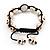 Antique White Skull Shape Stone Beads Buddhist Bracelet - 11mm diameter - Adjustable - view 7