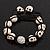 Antique White Skull Shape Stone Beads Buddhist Bracelet - 11mm diameter - Adjustable - view 2