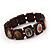 Stretch Brown Wooden Saints Bracelet / Jesus Bracelet / All Saints Bracelet - Up to 20cm Length - view 2