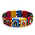Stretch Multicoloured Wooden Saints Bracelet / Jesus Bracelet / All Saints Bracelet - Up to 20cm Length