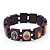 Stretch Purple Wooden Saints Bracelet / Jesus Bracelet / All Saints Bracelet - Up to 20cm Length