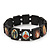 Stretch Dark Brown Wooden Saints Bracelet / Jesus Bracelet / All Saints Bracelet - Up to 20cm Length - view 1