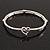 Burn Silver 'You Are Always In My Heart' Flex Bracelet - up to 20cm wrist