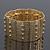 Vintage Hammered Bar Flex Bracelet In Gold Plating - 20cm Length