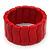 Red Ceramic Flex Bracelet - 18cm Length